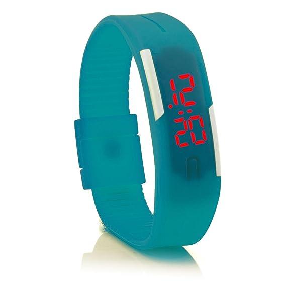 """c.d.r. silicona reloj digital LED reloj de pulsera LED Watch digital reloj azul"