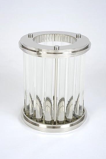 Art Deco Design Windlicht SPARKLE   Luxus Deko Highlight Versandkostenfrei  | Handarbeit Edelstahl Glas Kerze
