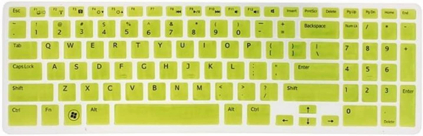 New Colorful US Keyboard Skin Cover Protector for 15.6 for Dell 15C 15CR 15MD 5CD 15M-Clear