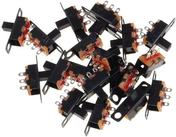 Set de 50 Piezas Sourcingmap A12013100UX0088 Interruptor Deslizante