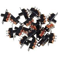 Lezed 50 stuks mini horizontale schuifschakelaar mini paneel schuifschakelaar montage solderen schakelaar paneel mount…
