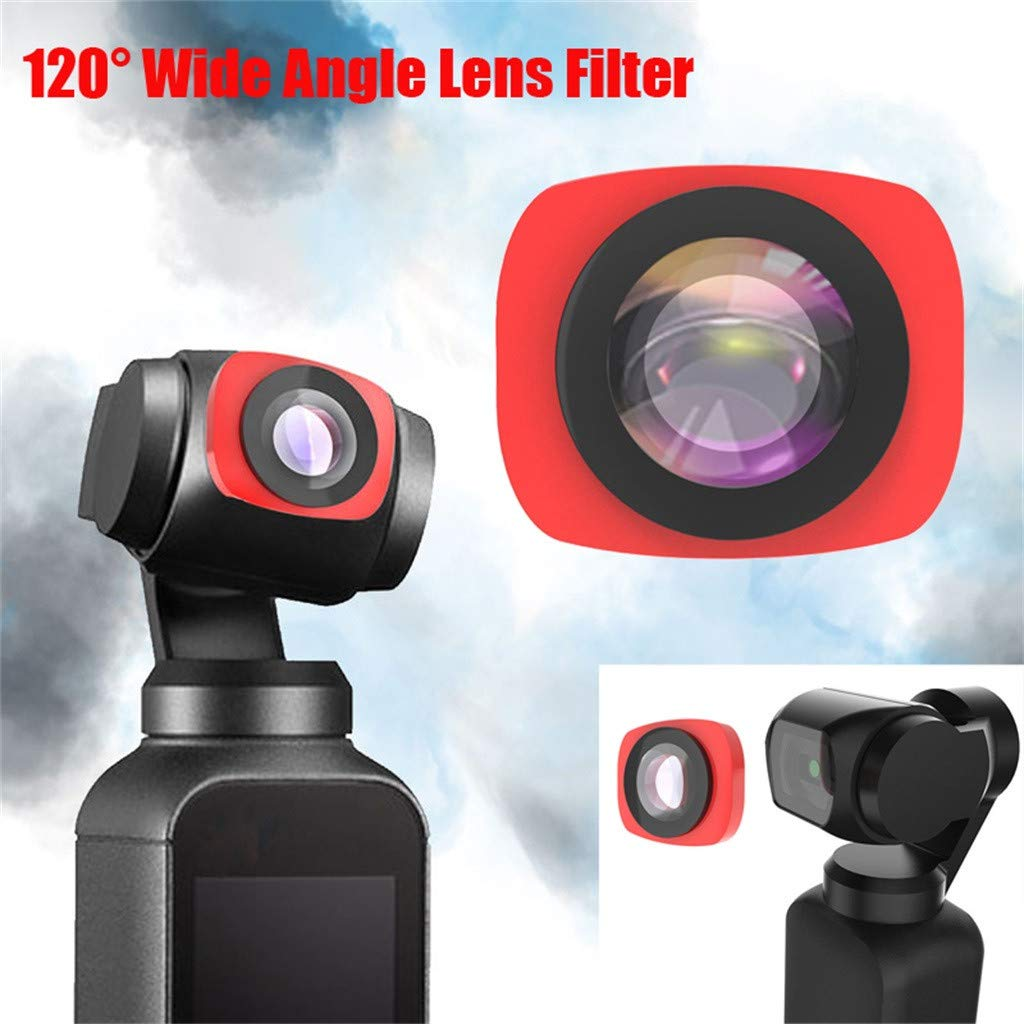 Camera Filter For DJI OSMO Pocket 3 in1 CR Wide Angle + 12.5X + CPL PTZ Camera 3pc Lens Filters Aluminum-alloy Helicopter Accessories (red) by lkoezi- Camera Filter (Image #4)