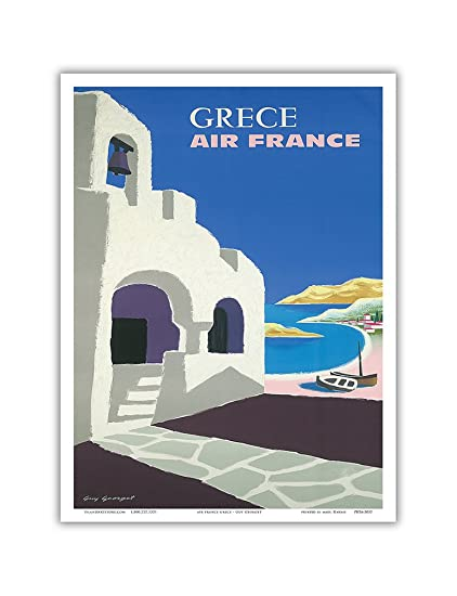 Amazon com: Grece (Greece) - France - Vintage Airline Travel