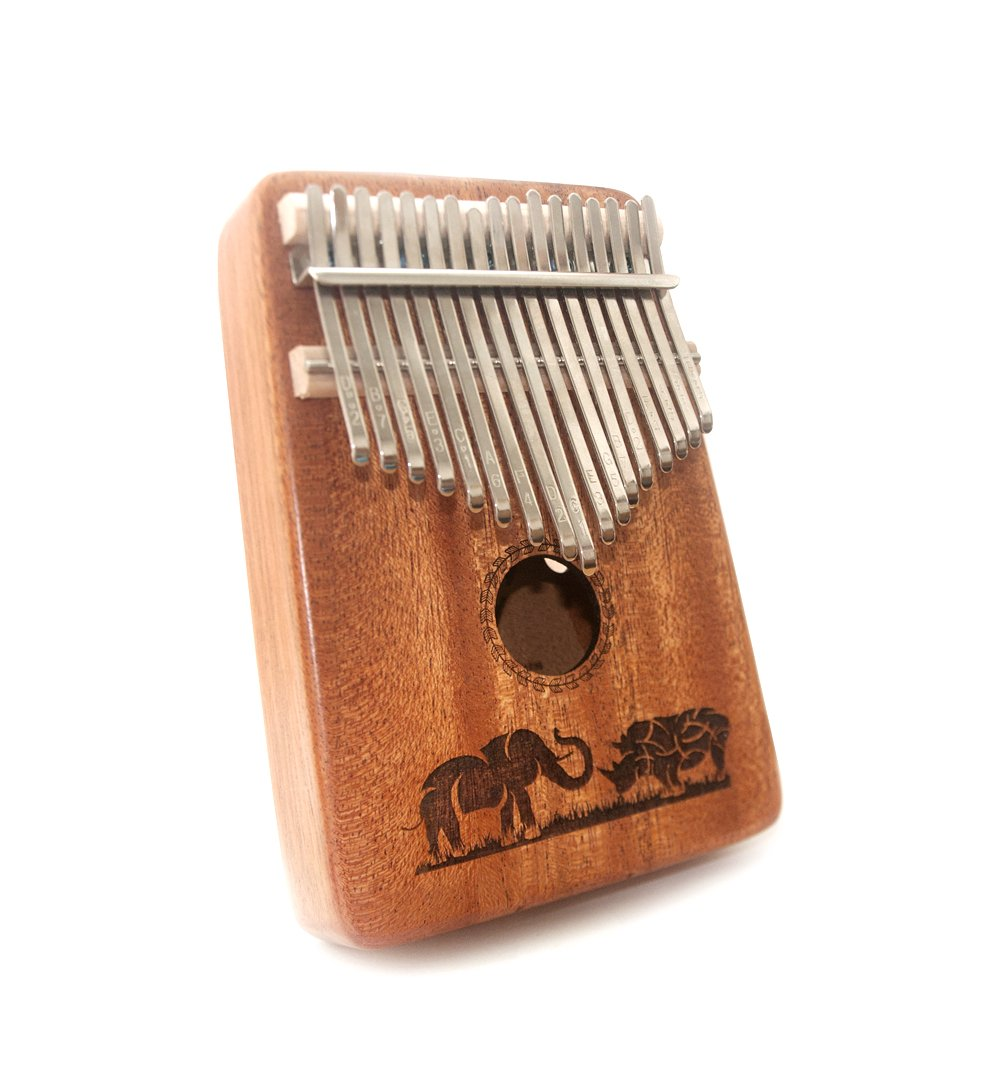 TRSCIND Kalimba 17 Key Thumb Piano, Finger Piano Mbira 17 Tone Musical instrument with Tune-Hammer and Study Guide, Unique Gift Birthday Gift Idea for Him Her or Musician Composer
