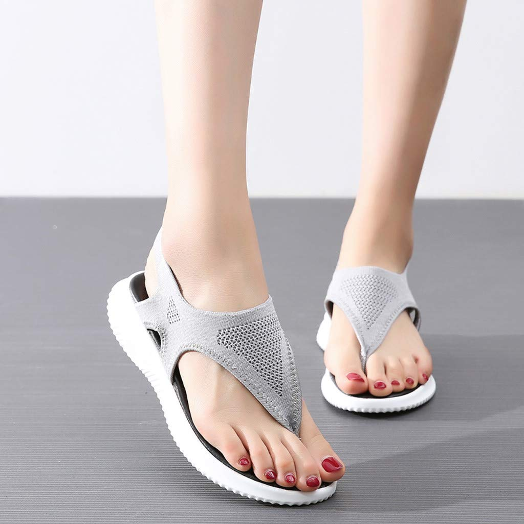 Women Thick Summer Flip Flop Shoes Clearance Sale, NDGDA Ladies Platform Roman Casual Flock Sandals by NDGDA Women Sandals (Image #2)