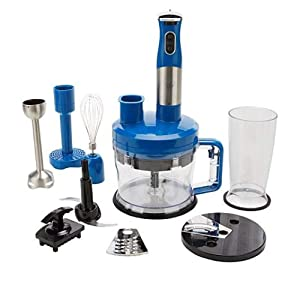 Wolfgang Puck 7-in-1 Immersion Blender with 12-Cup Food Processor - Blue