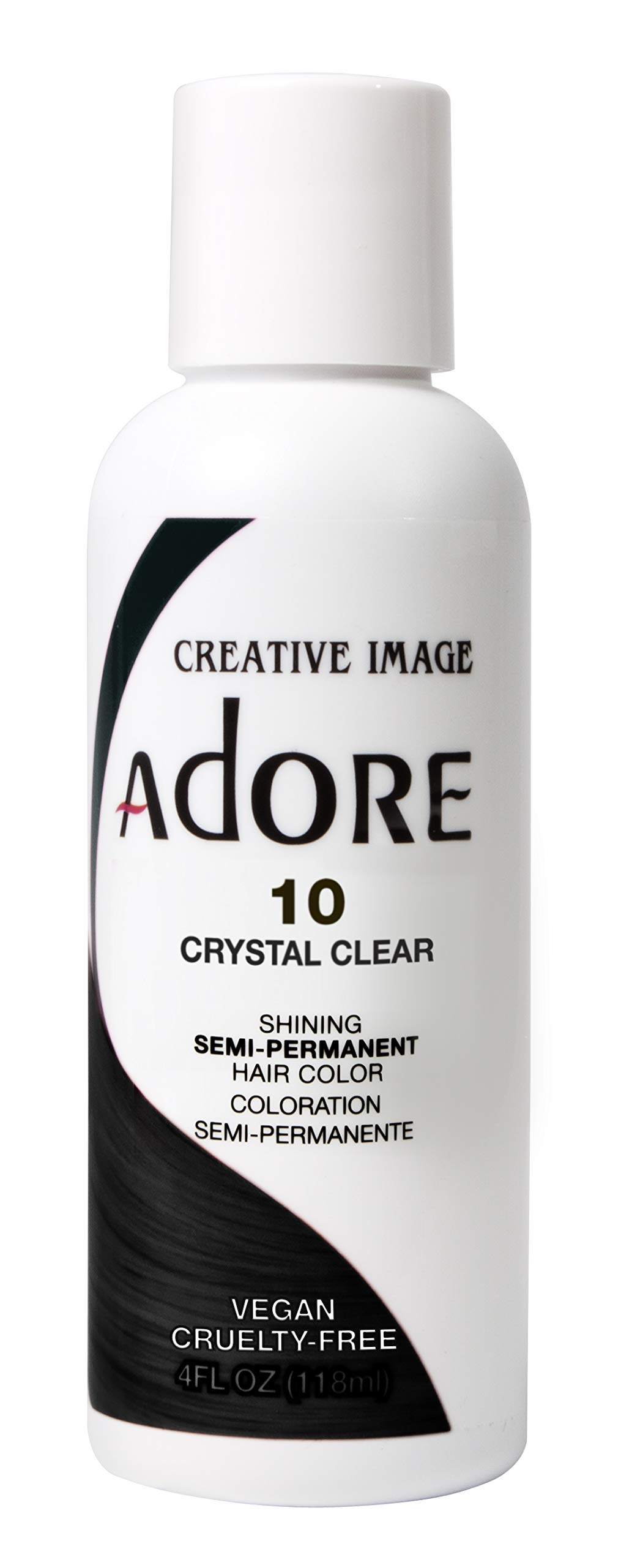 Adore Semi-Permanent Haircolor #010 Crystal Clear 4 Ounce (118ml) (2 Pack)