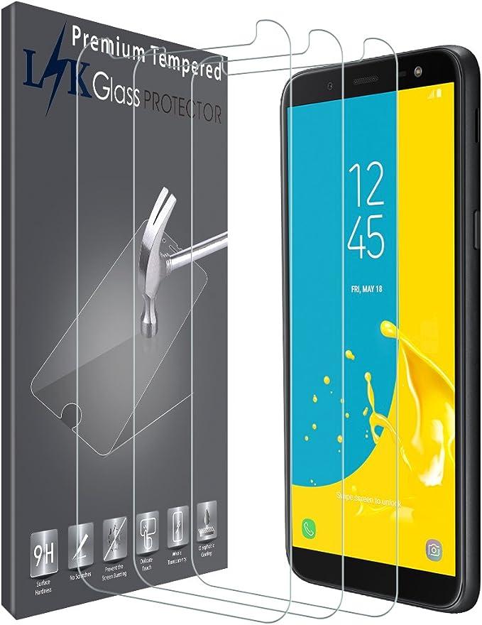 Imagen deLK Protector de Pantalla para Samsung J600 Galaxy J6 / Samsung Galaxy J6 2018, [3 Pack] Vidrio Templado Screen Protector