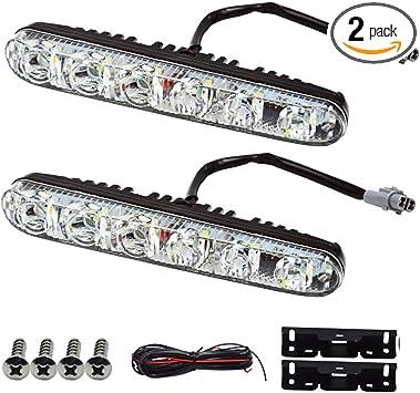 2X 6-LED Daytime Running Light DRL Fog Lamp Day Lights Daylight 12V For All Car