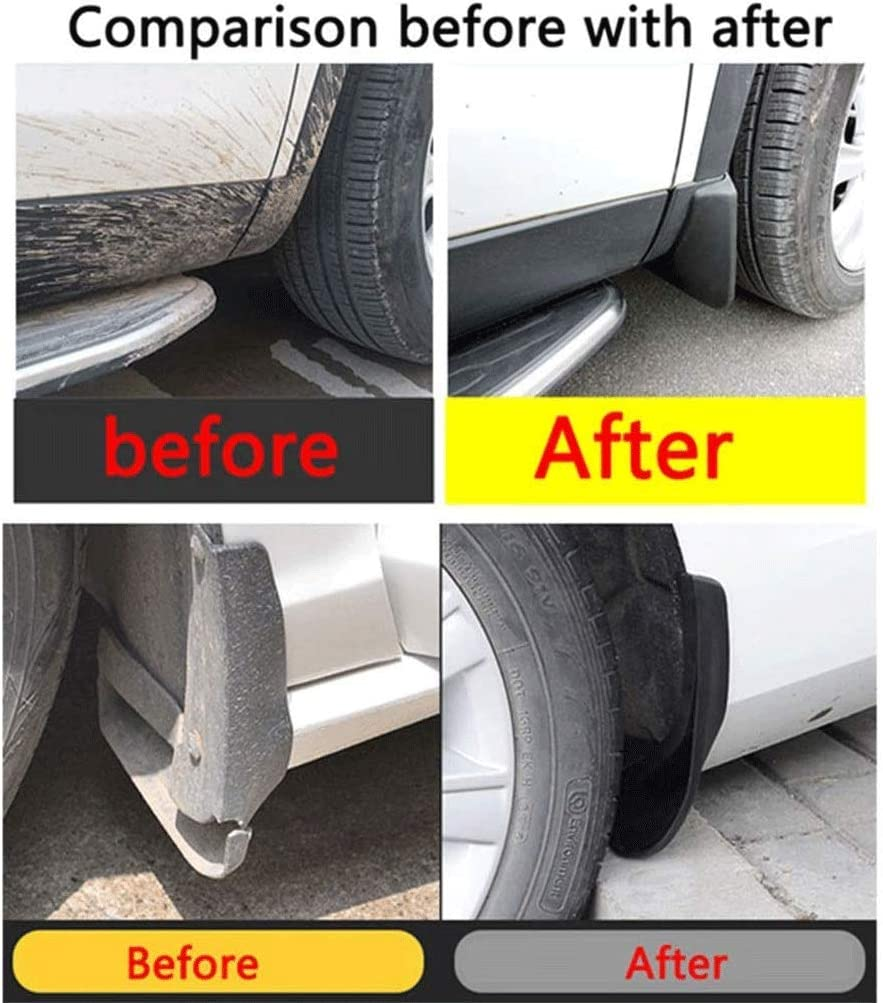 HUAQIEMI 4Pcs Car Mudguards Mud Flaps Full Protection Premium Splash Guard Styling Accessories For Kia Sportage 2011 2012 2013 2014 2015 2016 Front Rear Set Moulded Fender