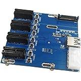 Rokoo Neue PCIe 1 bis 4 PCI Express 1X Steckplätze Riser Card Mini ITX zu extern 4 PCI-e Slot ad