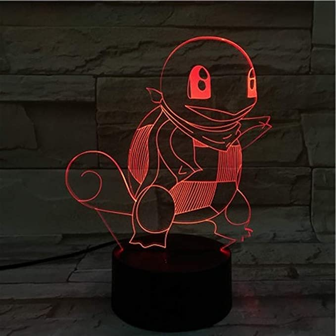 KangYD Luz 3D /Pokemon 3D Led Night Lamp Decoración de ...