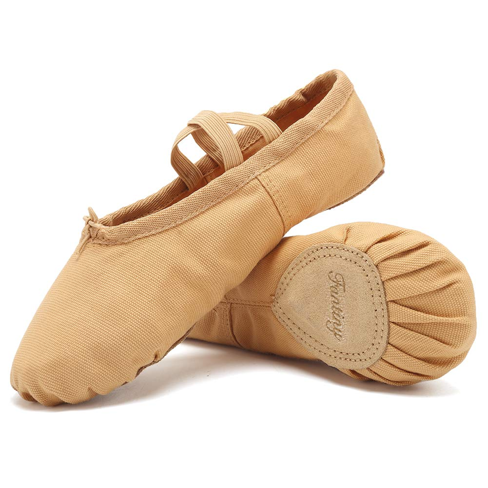 CIOR Ballet Slippers for Girls Classic Split-Sole Canvas Dance Gymnastics Yoga Shoes Flats TWXCP