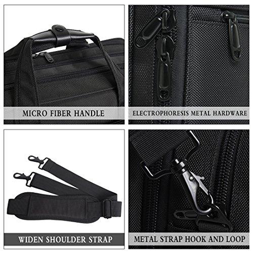 17-18-18.5 inch Laptop Bag,Water Resisatant Business Laptop Briefcase,Expandable High Capacity Shoulder Bag,Nylon Multi-Functional Shoulder Messenger Bag for Men Fits 17 inch Loptop ,Computer,Tablet by NULL (Image #6)