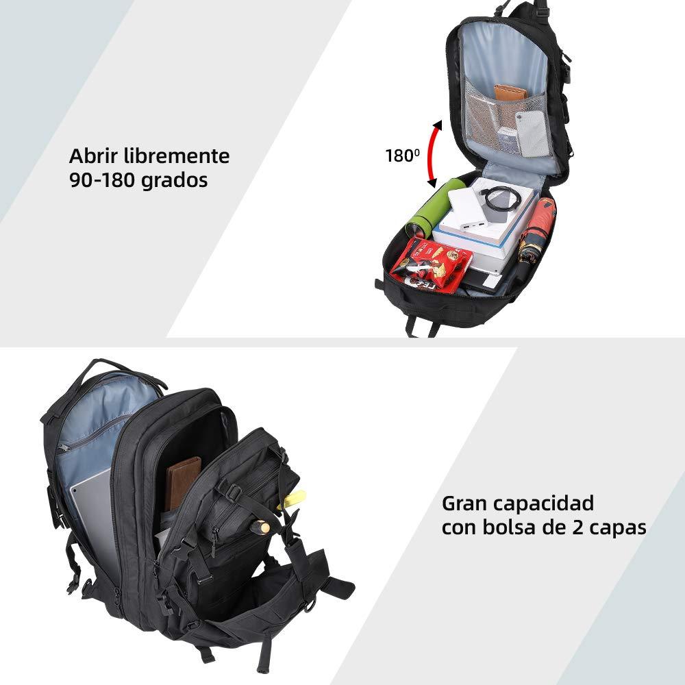 Zaino da Moto con Scomparto per Il Casco 37 L per Casco Impermeabile ISSYZONE con Porta di Ricarica USB