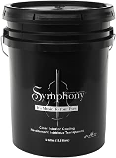 product image for Sashco Symphony Interior Clear Coat, 5 Gallon Pail, Satin (Pack of 1)