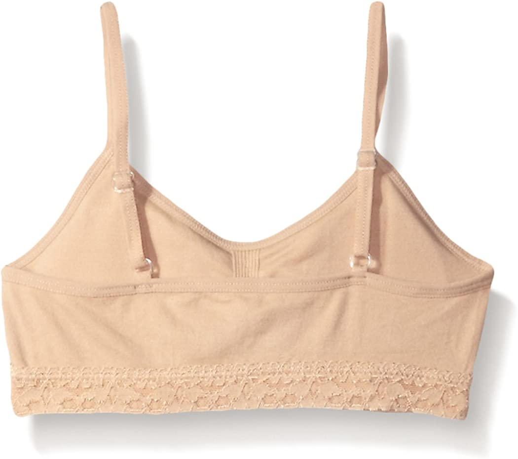 Maidenform Big Girl Seamless Ruched Crop Bralette with Lace Band