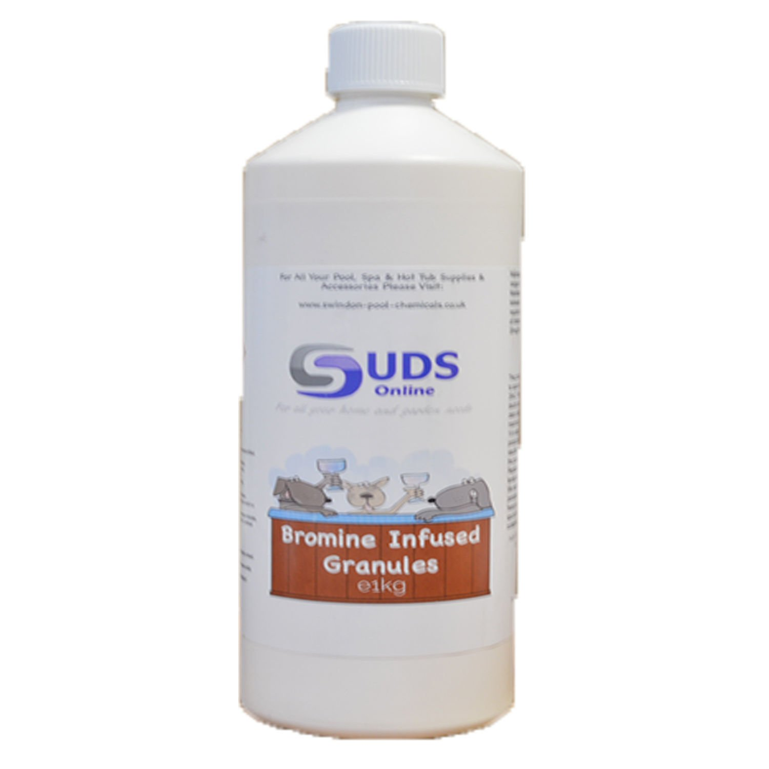 SUDS-ONLINE 1KG Bromine Infused Granules for Hot Tub Spa Swimming Pool Chemicals