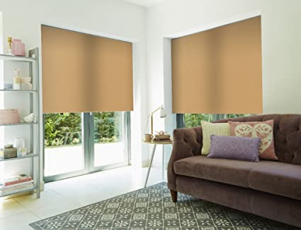 Roller Shade Blind For Window By PeakHut: Stylish Vertical Curtain In 3  Designs U2013 Bamboo