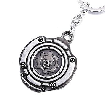 ok-store Gear Cog símbolo etiqueta de llavero de metal ...
