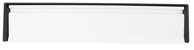 12' Anti-Vandal UPVC Door Letter Box Plate - White UAP