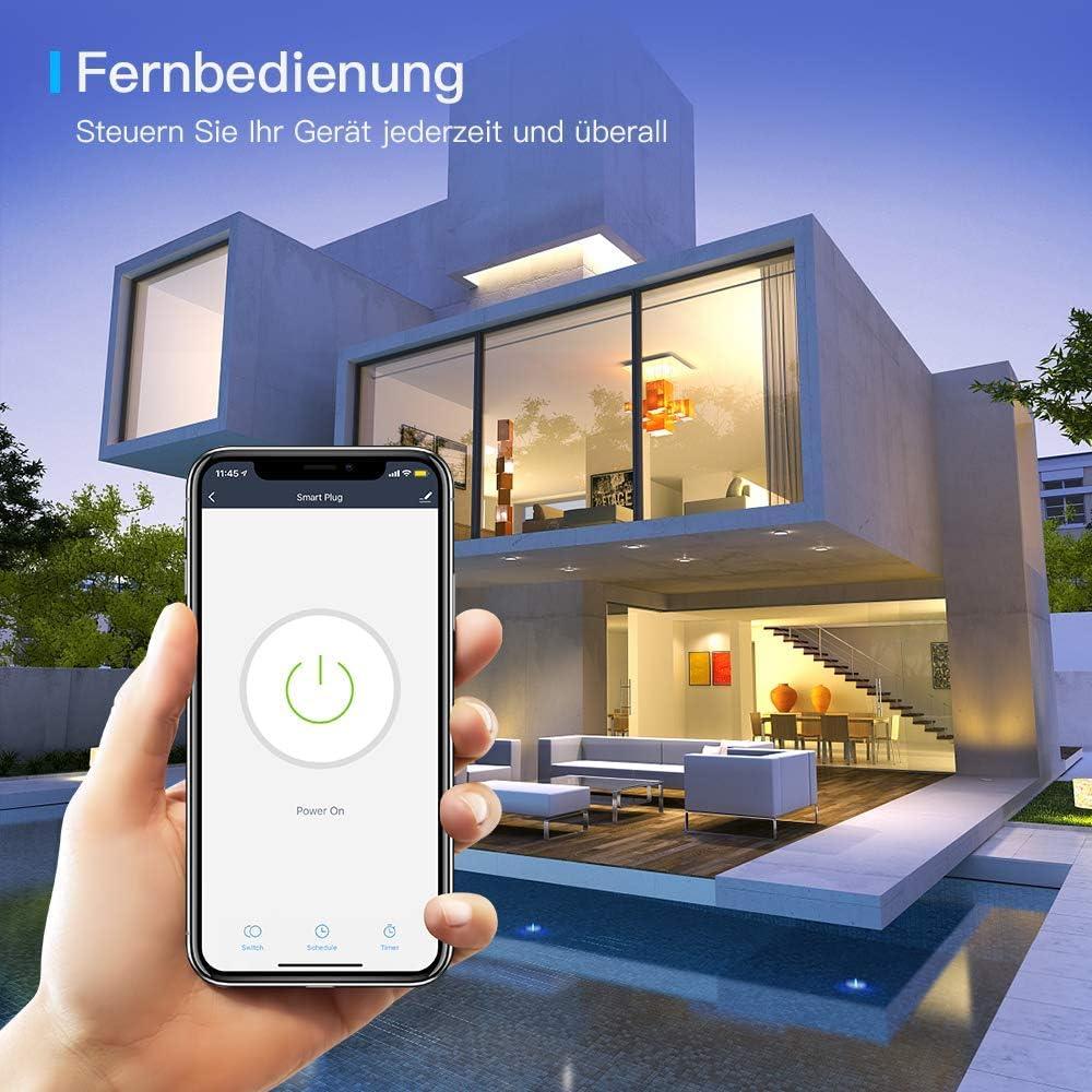 Echo Dot Google Assistant 16A 3680W Aoycocr Alexa Enchufes Smart Mini Plug no se requiere Hub Smart Home Funciona con  Alexa con Control Remoto Enchufe Inteligente Wifi