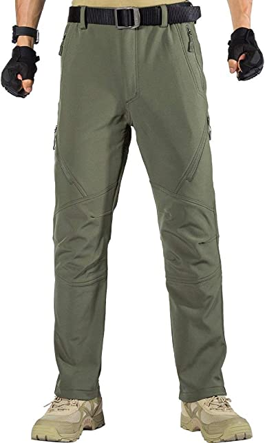 FREE SOLDIER Pantalones de Trabajo Softshell para Hombre Pantalones Trekking Termico Pantalones Montaña Impermeable Pantalones de Snowboard de ...