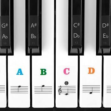 Pegatinas De Letra Para Teclado De Piano Juego Completo Para ...
