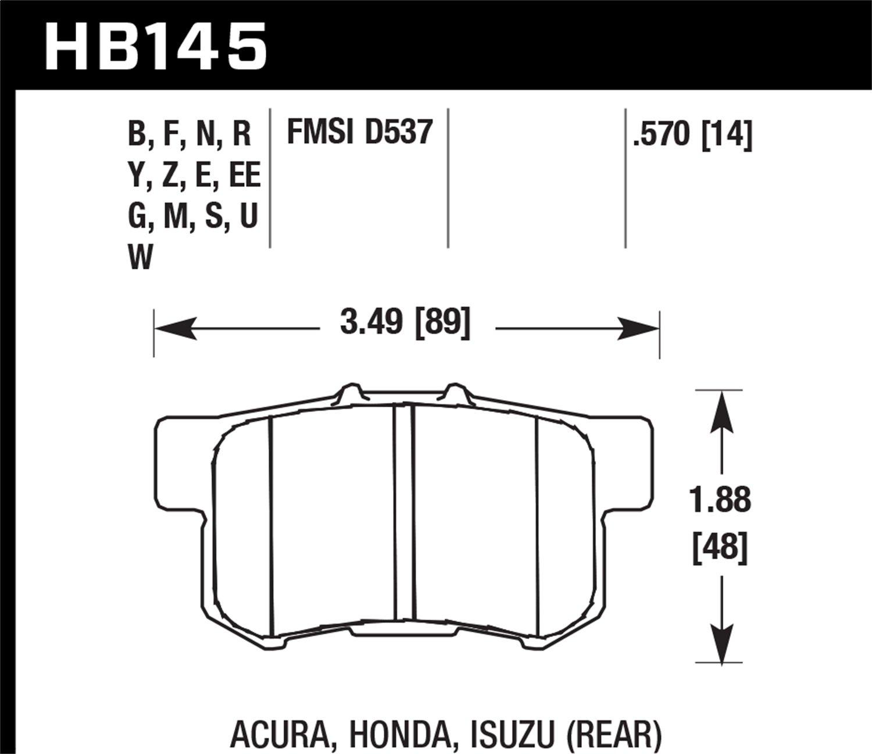Hawk Performance HB145S.570 Disc Brake Pad