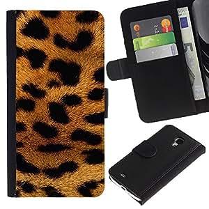 A-type (Panther Fur Africa Animal Pattern Gold) Colorida Impresión Funda Cuero Monedero Caja Bolsa Cubierta Caja Piel Card Slots Para Samsung Galaxy S4 Mini i9190 (NOT S4)