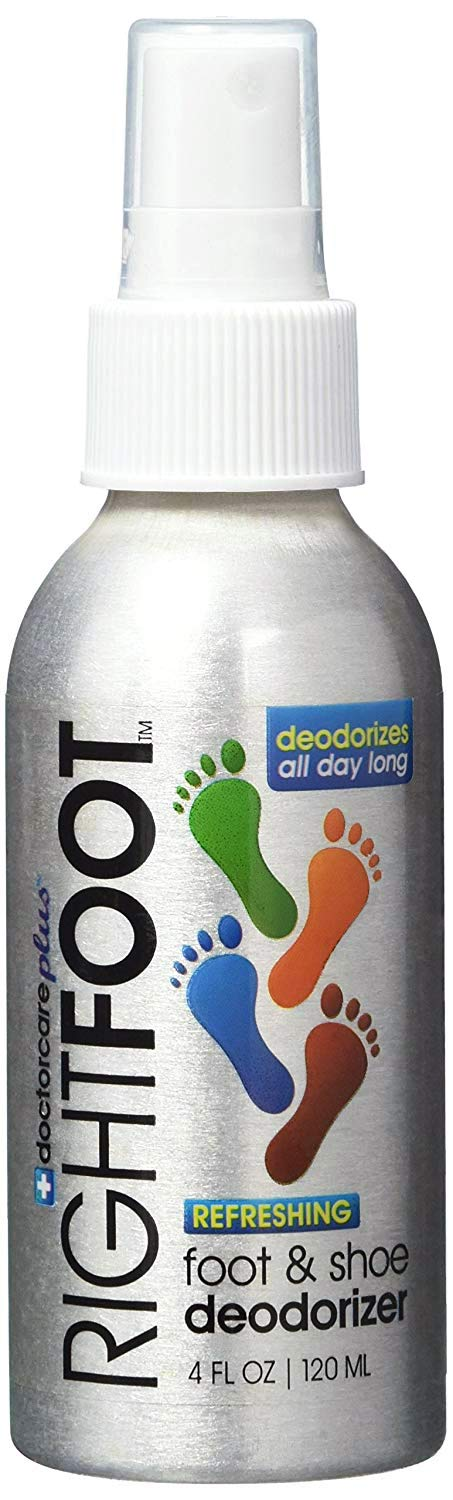 Foot and Shoe Deodorant Spray - All Natural and 100% Safe For All Shoes & Feet - Fresh Peppermint & Tea Tree Deodorizer Destroys Odor & Bacteria Immediately!