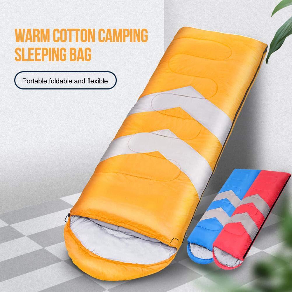 Camping Wandern blau Baiansy Camping Schlafsack Leichter Wasserdicht 4 Jahreszeiten Schlafsack f/ür Outdoor-Rucksackreisen