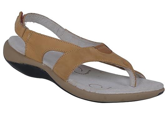 Camel Leather Fashion Sandals