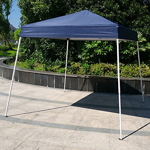 Foldable Gazebo (Azadx 10' X 10' Easy POP UP Sun Shelter Gazebo, Wedding Party Tent Foldable Shade Shelter Canopy, Portable Event Tent With Carrying Bag Blue)