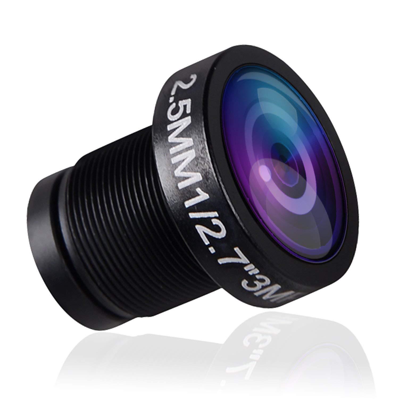 FALCORC FOXEER FPV Camera Lens, 120° Wide Angle 2.5mm Camera DV Lens Replacement for for Arrow/Monster/Predator/Falkor Camera(IR Blocked)