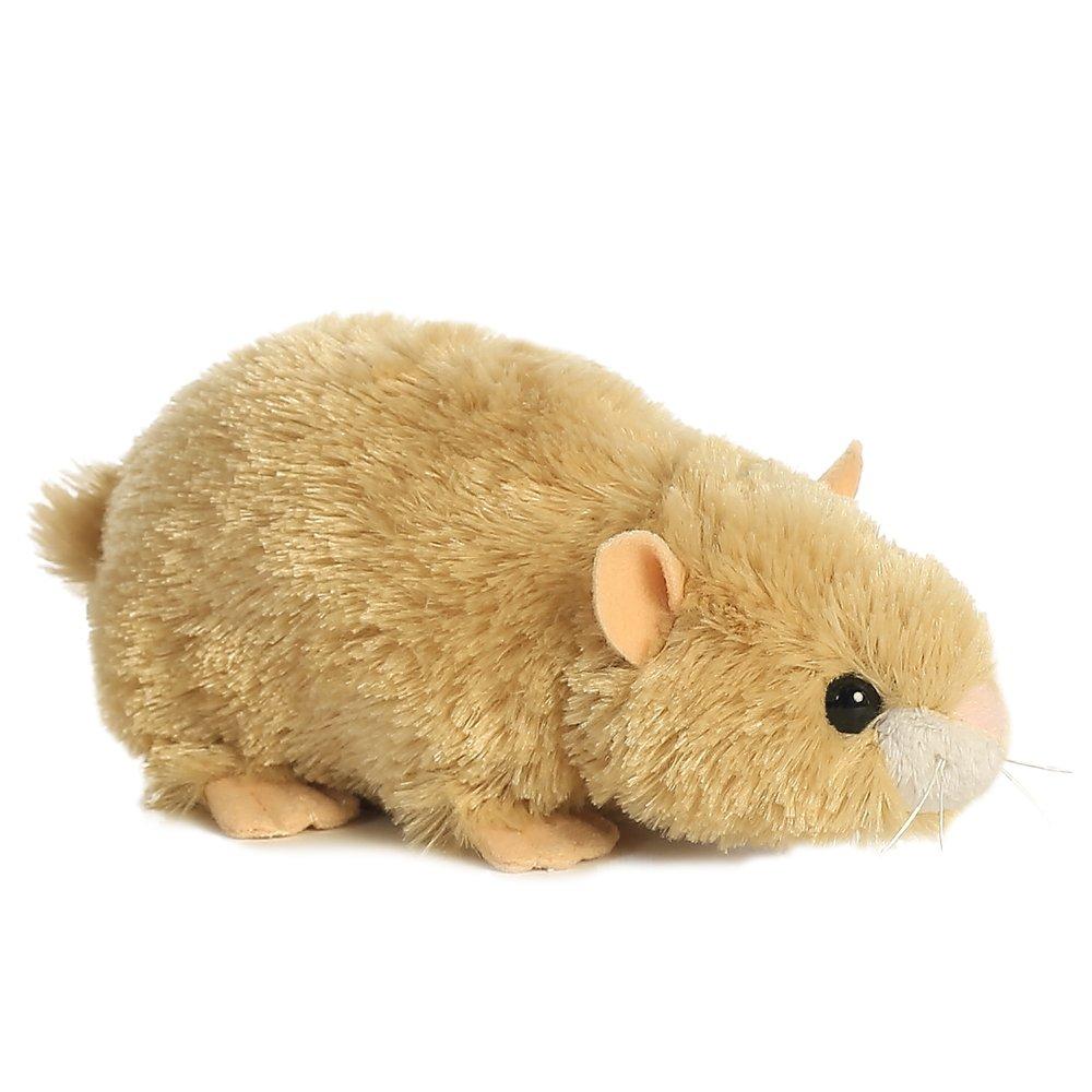 Beige//White//Pink Aurora World Happy Hamster Mini Flopsies Plush Toy