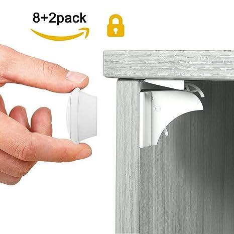 Un conjunto de cerradura invisible magnética para la seguridad del bebé, sin la perforación (