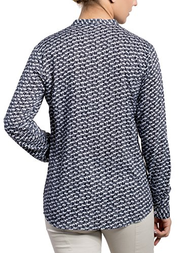 ETERNA long sleeve Blouse COMFORT FIT printed azul marino