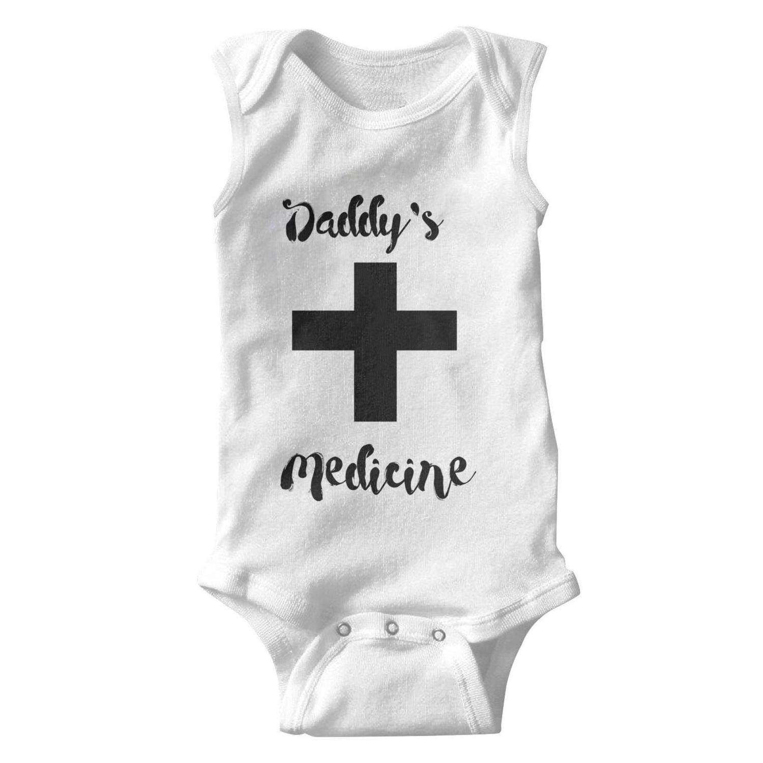 Dad Nurse Nothing Scares Me Funny Saying Baby Onesies Sleeveless Organic Cotton Romper Novelty for Kids Boys Girls