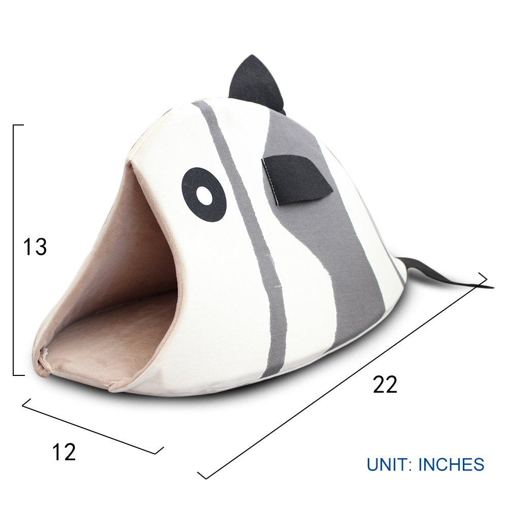 Petgrow Novelty Cat Bed House Decorative Fish Shaped Large Size, Cozy Comfy Pet Bed Cave for Cats Small Dogs, Kitten Puppy Cute Bed Cuddle,Beige by Petgrow (Image #3)