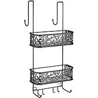 InterDesign Vine Constant Tension Shower Caddy - Bathroom Storage Shelves for Shampoo, Conditioner and Soap, Satin