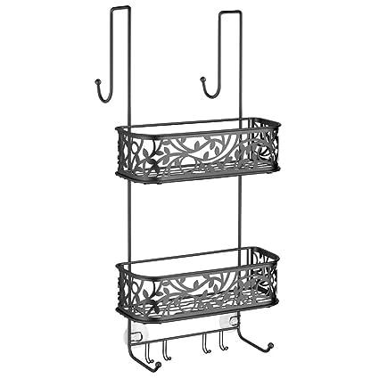 Amazon.com: InterDesign Vine Bathroom Over Shower Door Caddy for ...