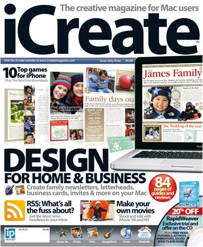 Magazines : Icreate - England