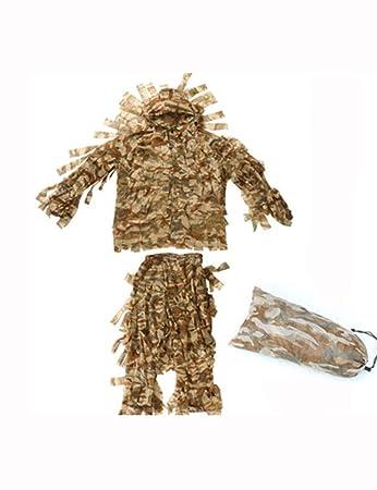 Amazon.com: Ghillie - Traje de camuflaje para adulto al aire ...