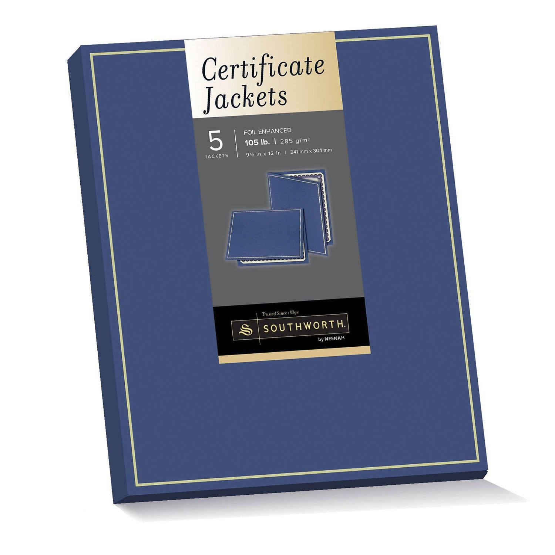 Amazon southworth certificate jacket gold foil enhanced amazon southworth certificate jacket gold foil enhanced 95 x 12 inches 105 lb navy felt finish 5 count pf6 parchment paper office xflitez Image collections