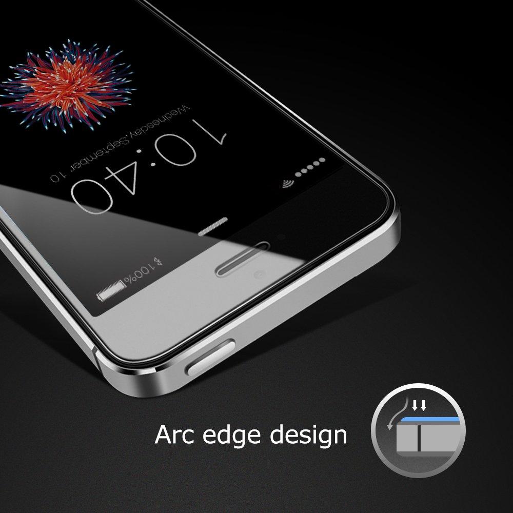 CoolReall - Protector de pantalla de Vidrio Templado para iPhone SE/iphone 5 /iphone 5C /ipnone 5S /iphone 5SE (0.33 mm), transparente