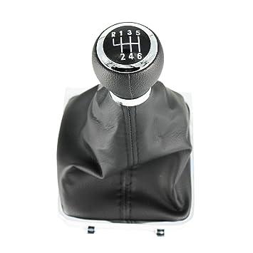 SurePromise Gear Shift Knob Leather Gaiter Boot Cover Black Full Kit 6 Speed