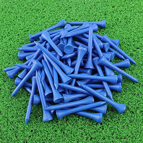Crestgolf Wood Golf Tees 2-1/8 inch Pack of 100 (blue)