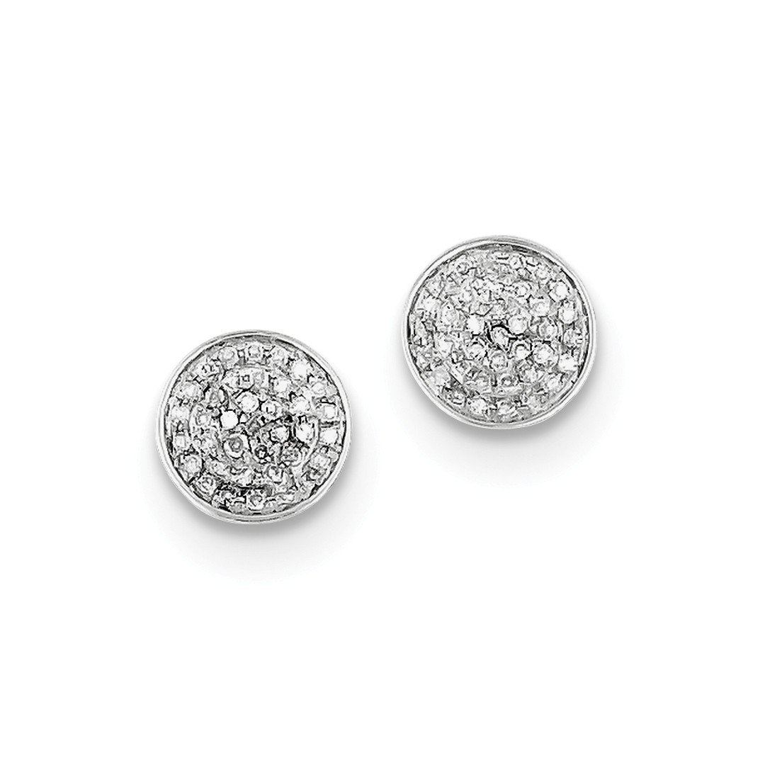 ICE CARATS 925 Sterling Silver Diamond Round Shaped Screwback Post Stud Ball Button Earrings Fine Jewelry Gift Set For Women Heart