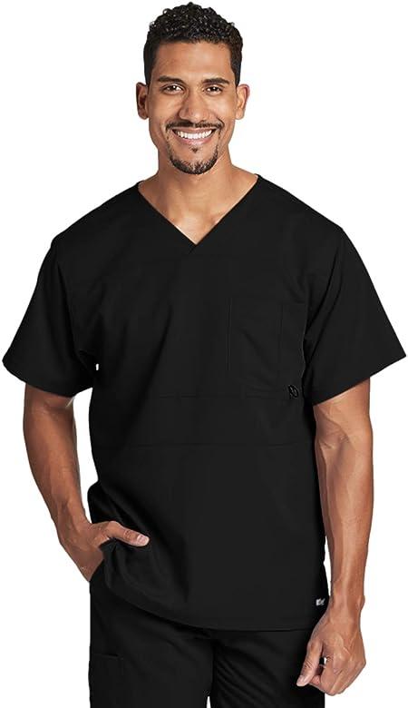 Grey's Anatomy 2-Pocket V-Neck Top for Men - Medical Scrub Top